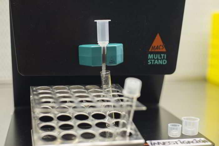 sperme sélectionné par la technique MACS
